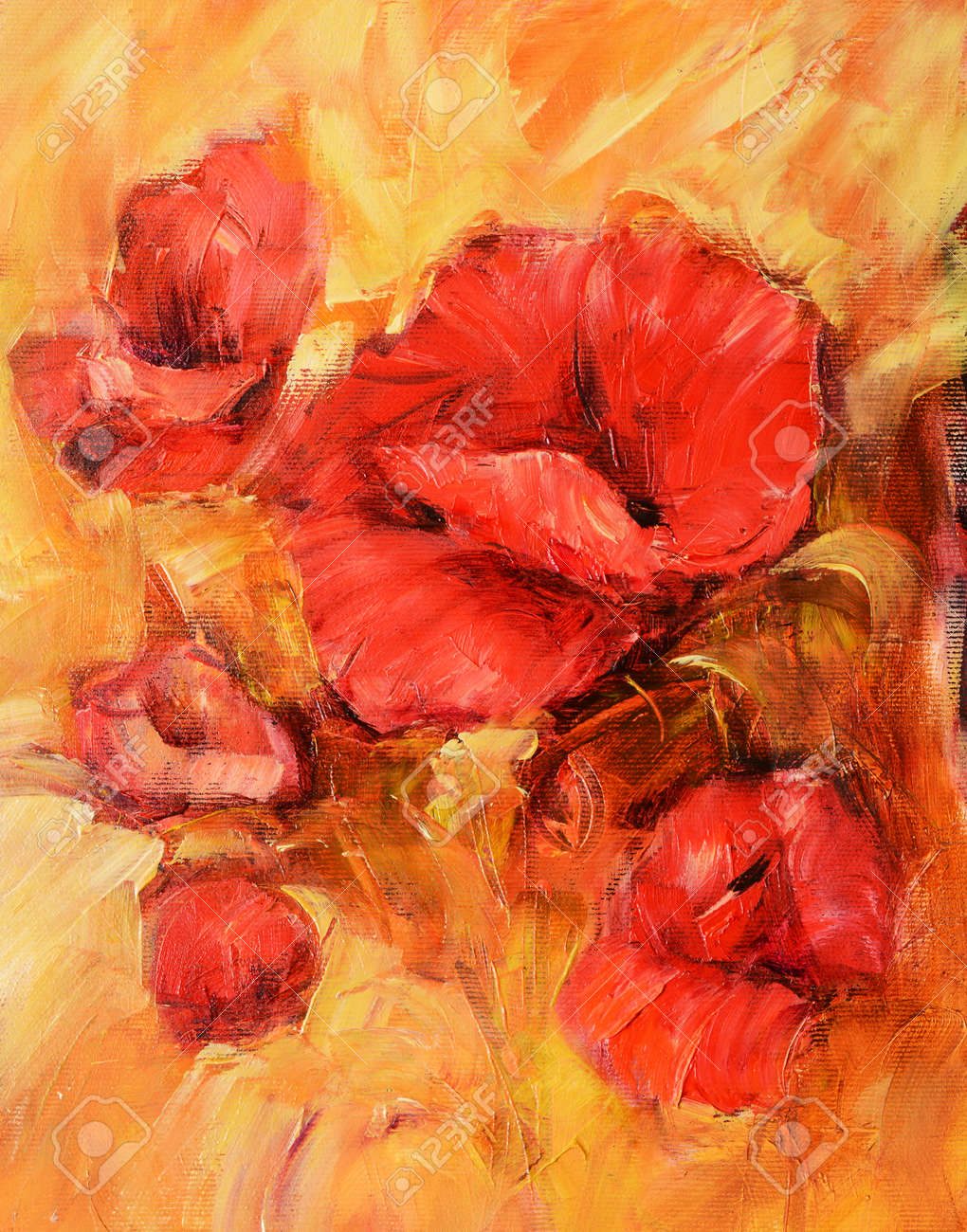 Poppy flowers handmade oil painting on canvas stock photo picture poppy flowers handmade oil painting on canvas stock photo 92122946 mightylinksfo