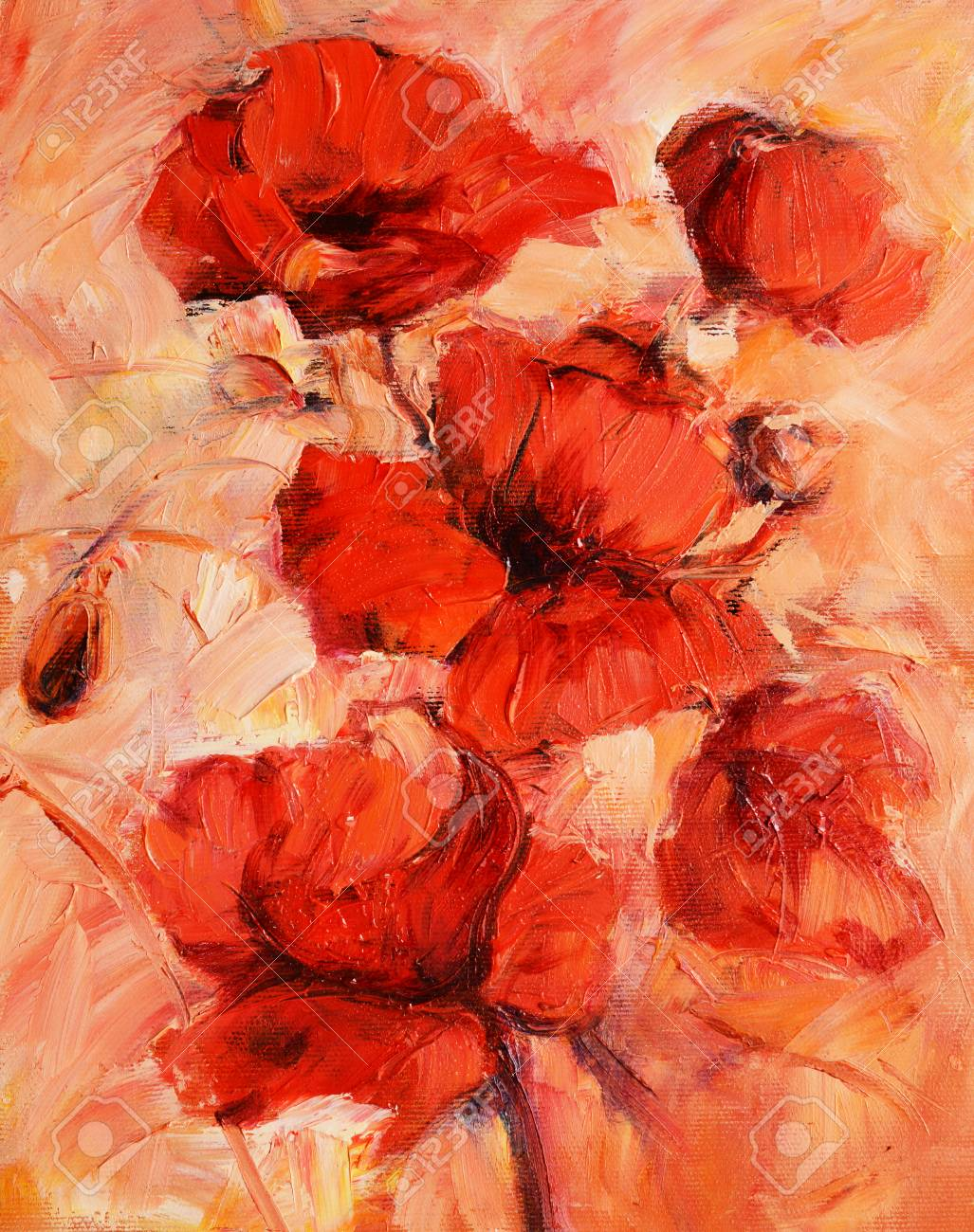 Poppy flowers handmade oil painting on canvas stock photo picture poppy flowers handmade oil painting on canvas stock photo 92152440 mightylinksfo