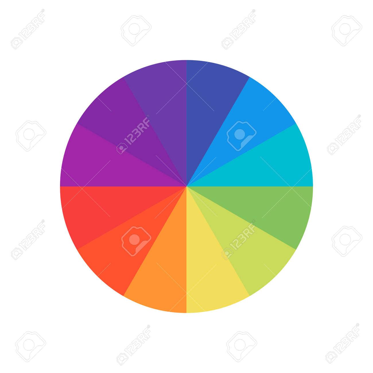 Colored circle. Wheel colour spectrum. Circle palette. Multicolored circle flat template. - 131070433