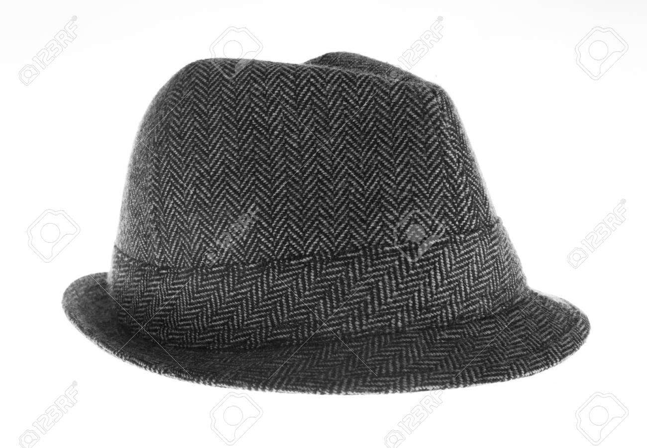 Isolated gray felt hat Stock Photo - 18104456