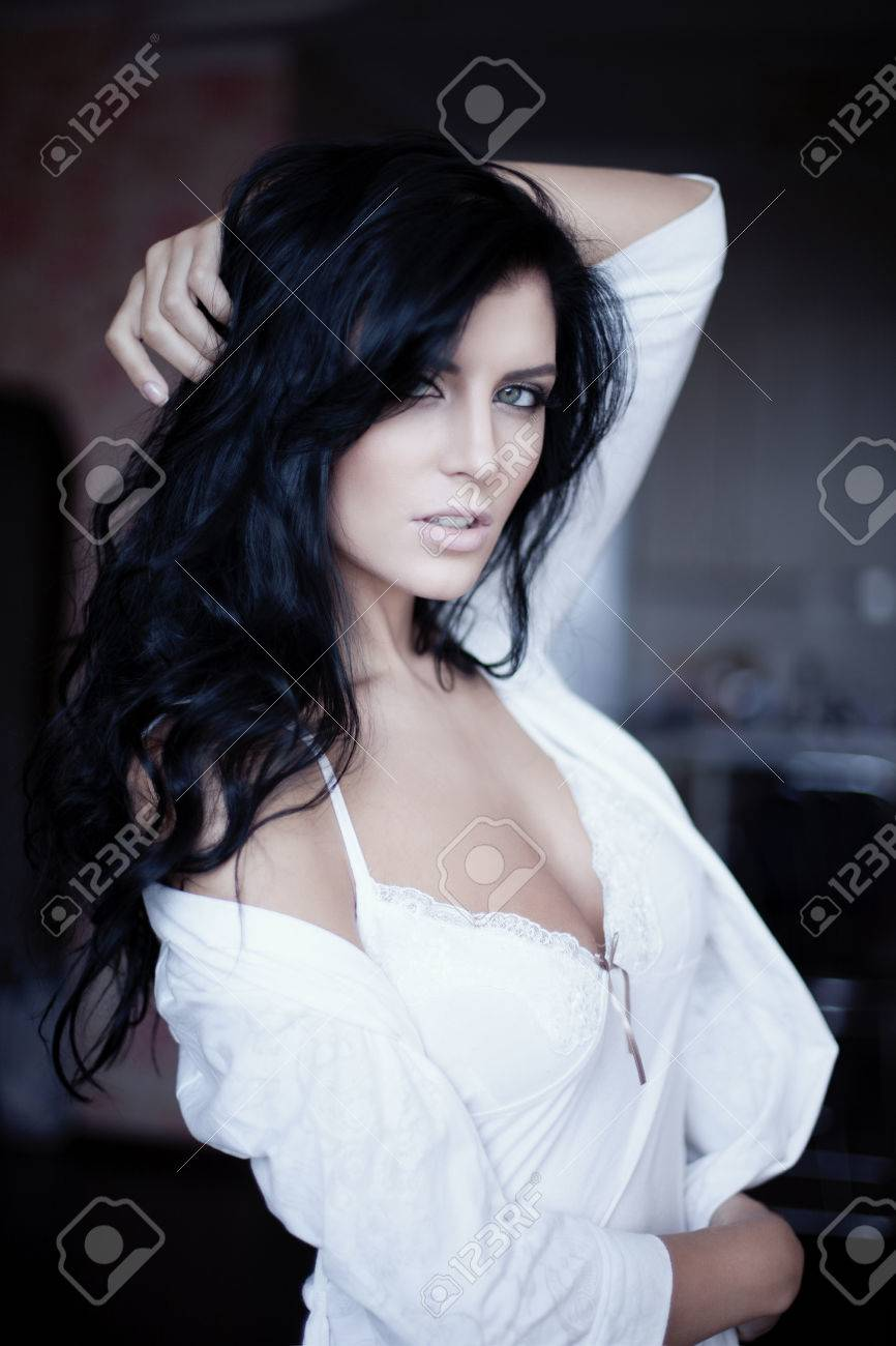 Sexy lady in white Stock Photo - 23793931