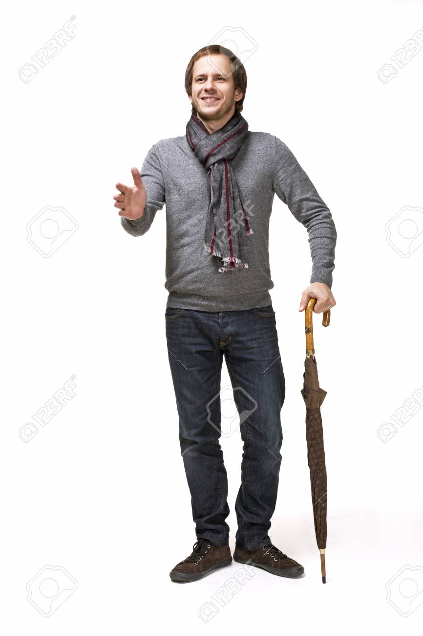 Id9we2hy Abiti La Ombrello In Con Uomo Scossa Eleganti Sorridente Mano doeCxBr
