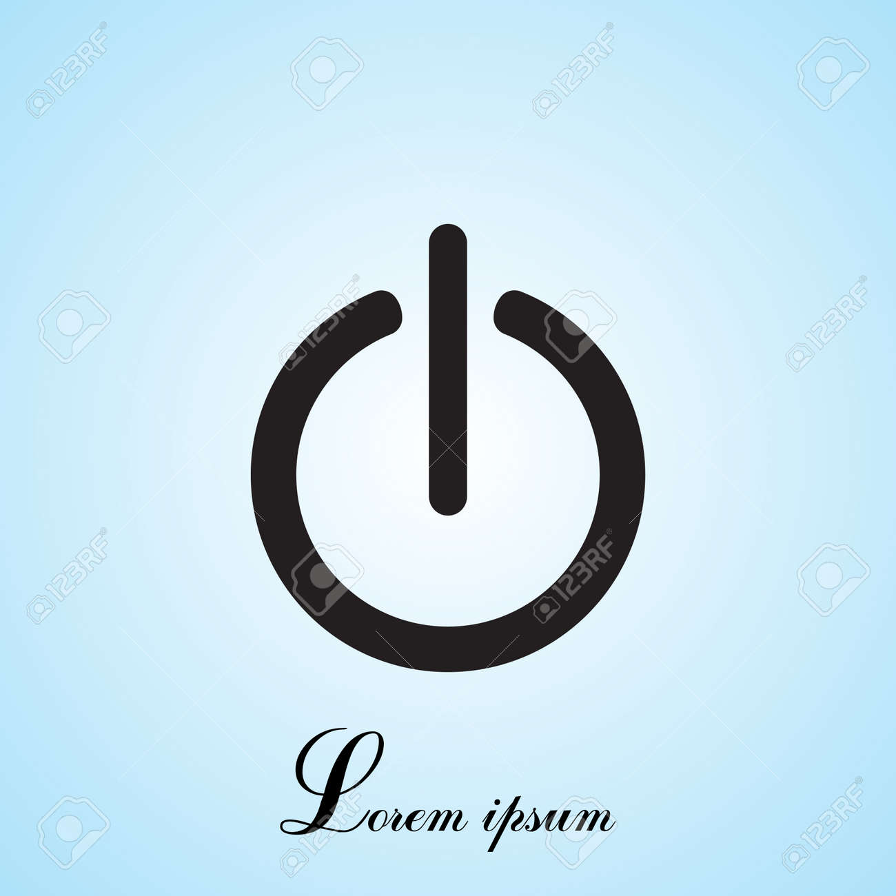 Power Onoff Icon Flat Design Style Royalty Free Cliparts Vectors