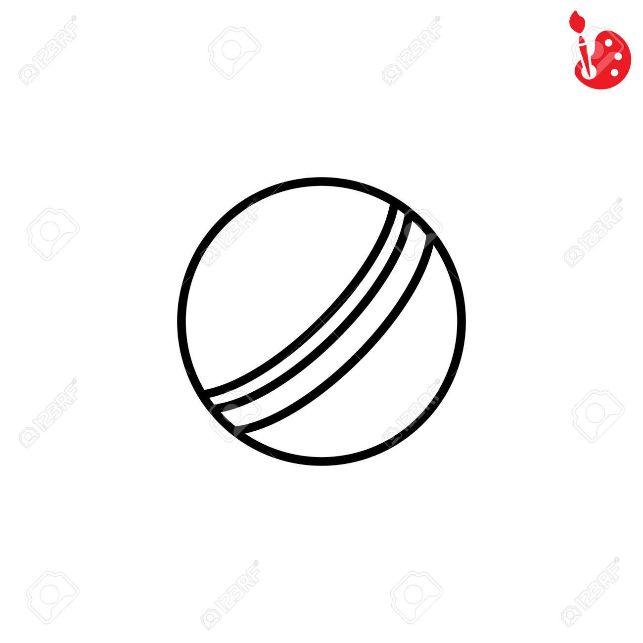 Web line icon. Ball, children's ball - 73945132