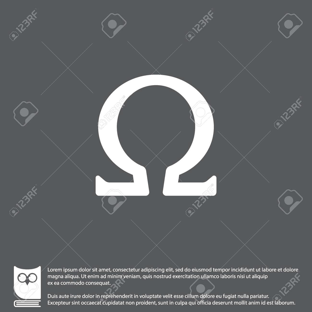 Icono De Web. Símbolo Omega Ilustraciones Vectoriales, Clip Art ...