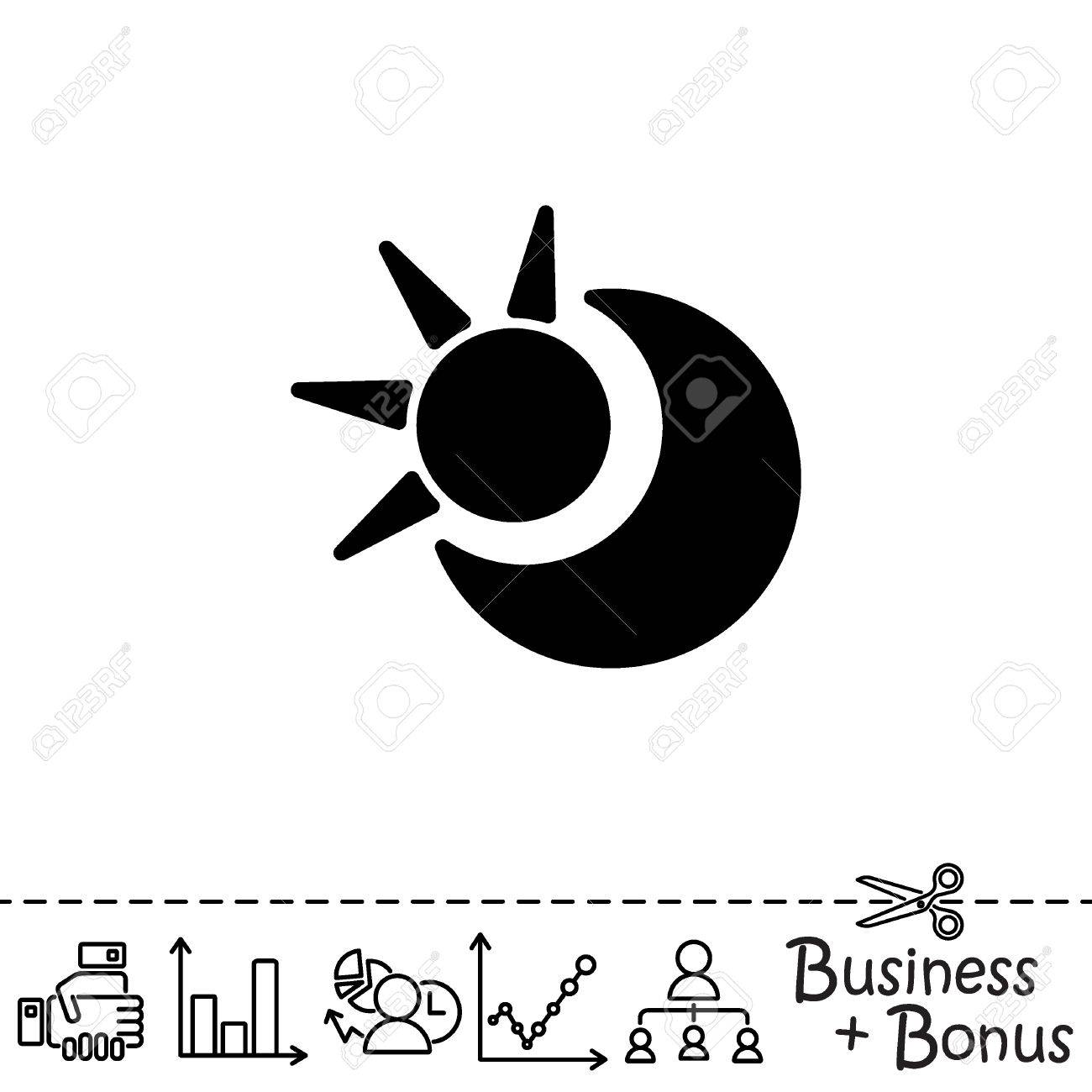 Web Icon Sun And Moon Crescent Royalty Free Cliparts Vectors