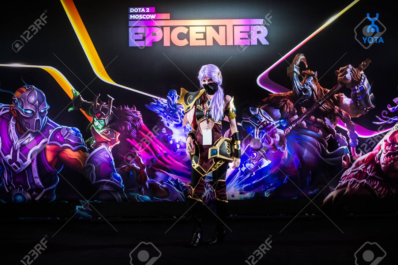 MOSCOW, RUSSIA - MAY 13 2016: EPICENTER MOSCOW Dota 2 cybersport