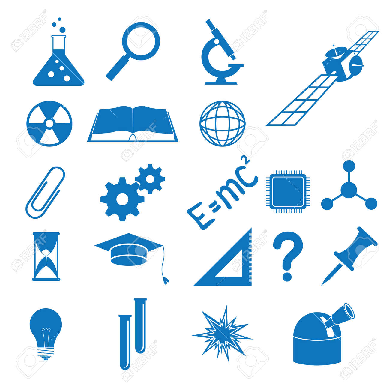 Vector illustration of the icons to subjects of the science Stock Vector - 10204848