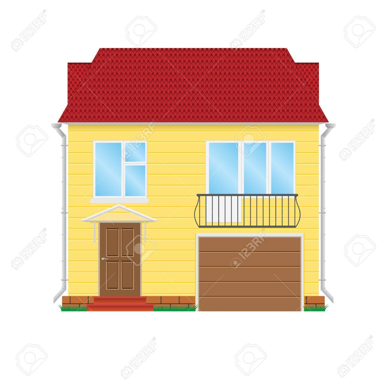 illustration house on a white background Stock Vector - 12303378