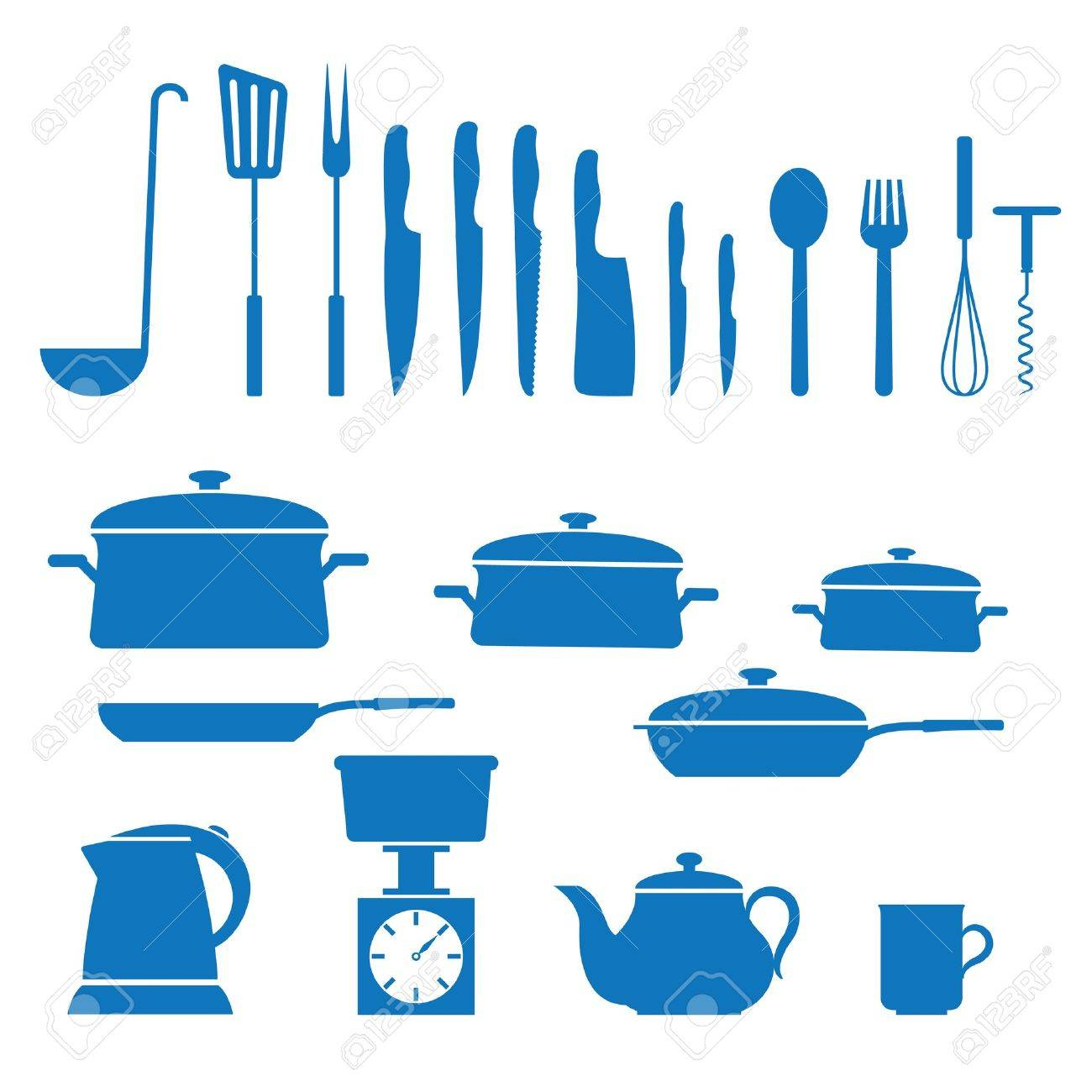 Uncategorized Kitchen Utensils And Appliances illustration of icons on kitchen appliances royalty free cliparts vector appliances