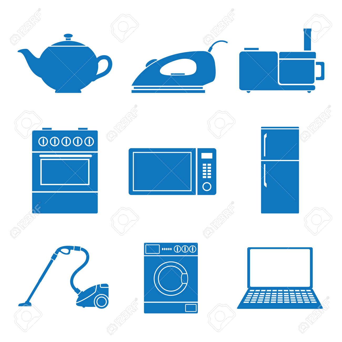 Vector illustration icons on appliances Stock Vector - 12792958