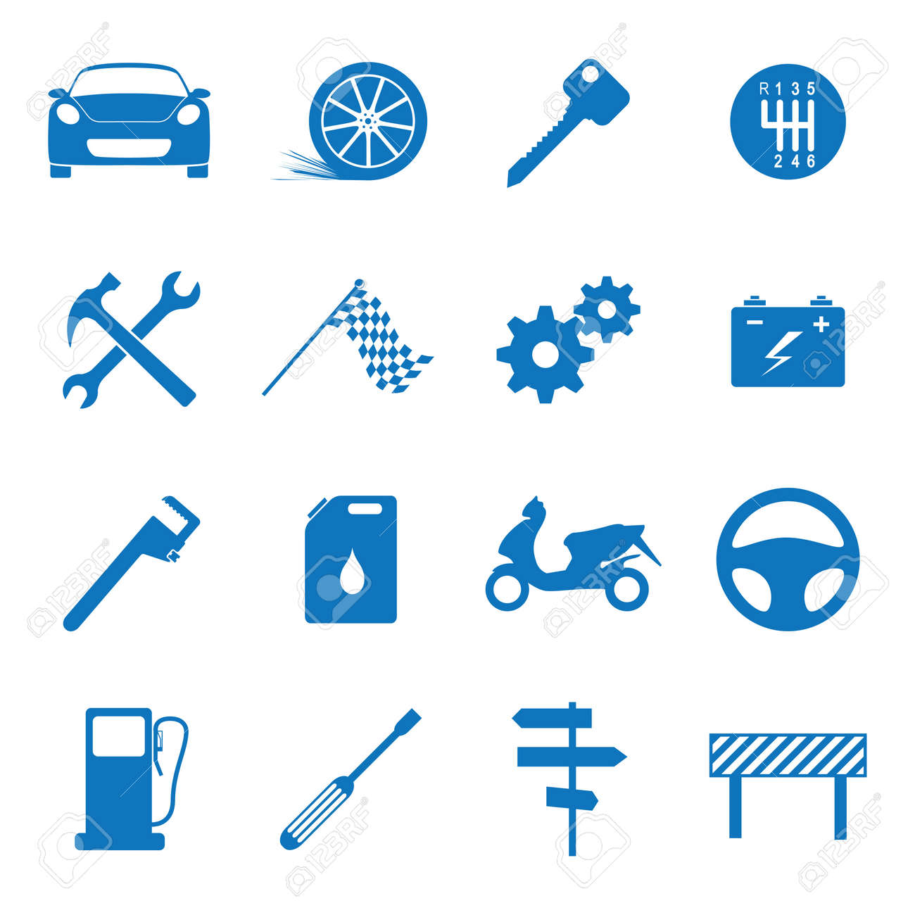 Vector illustration icons on the mechanics Stock Vector - 12792925