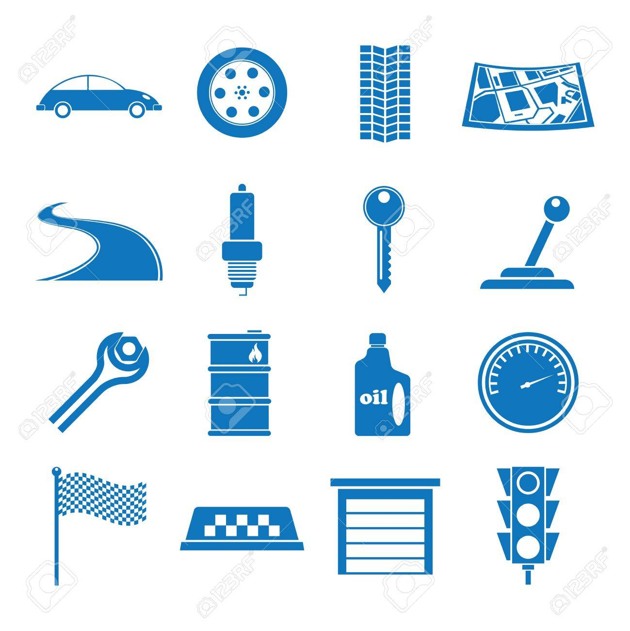 Vector illustration icons on the Tamu Car Stock Vector - 13734911