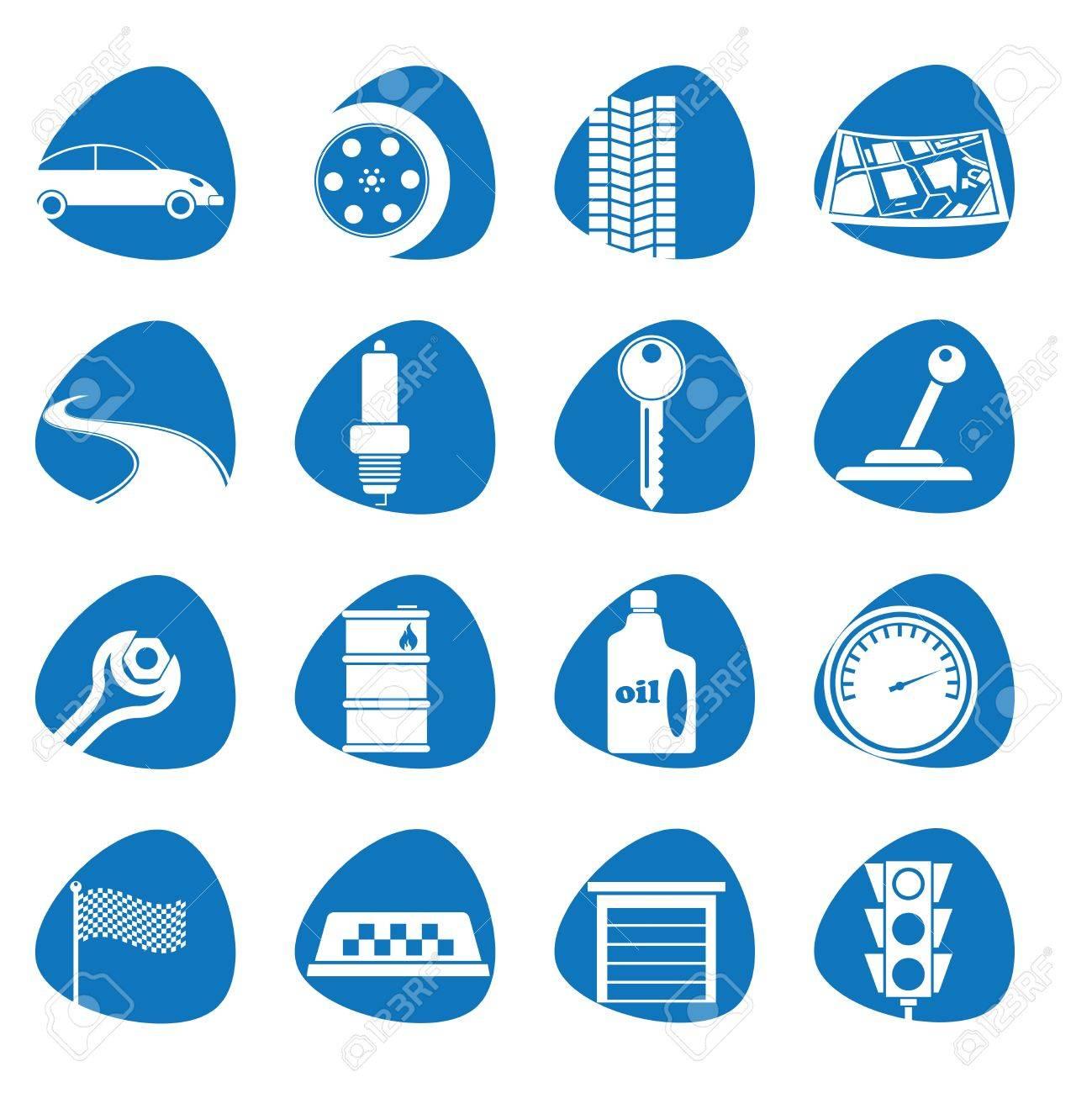 illustration icons on the Tamu Car Stock Vector - 14020924