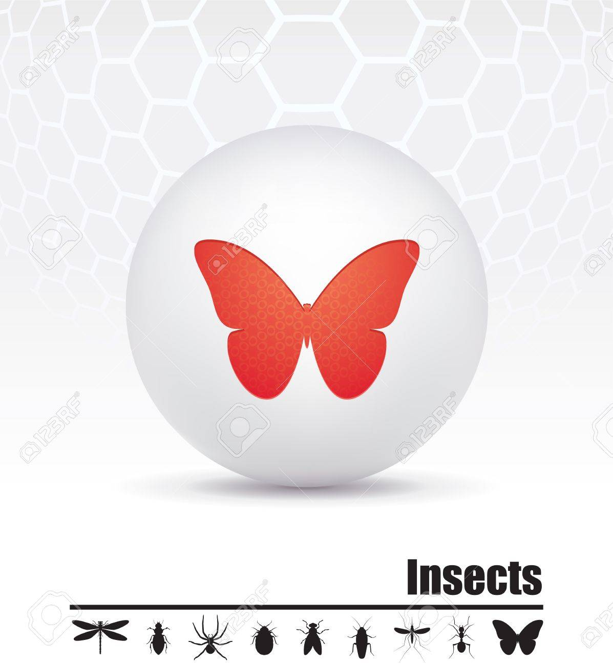 icons insects Stock Vector - 15659814