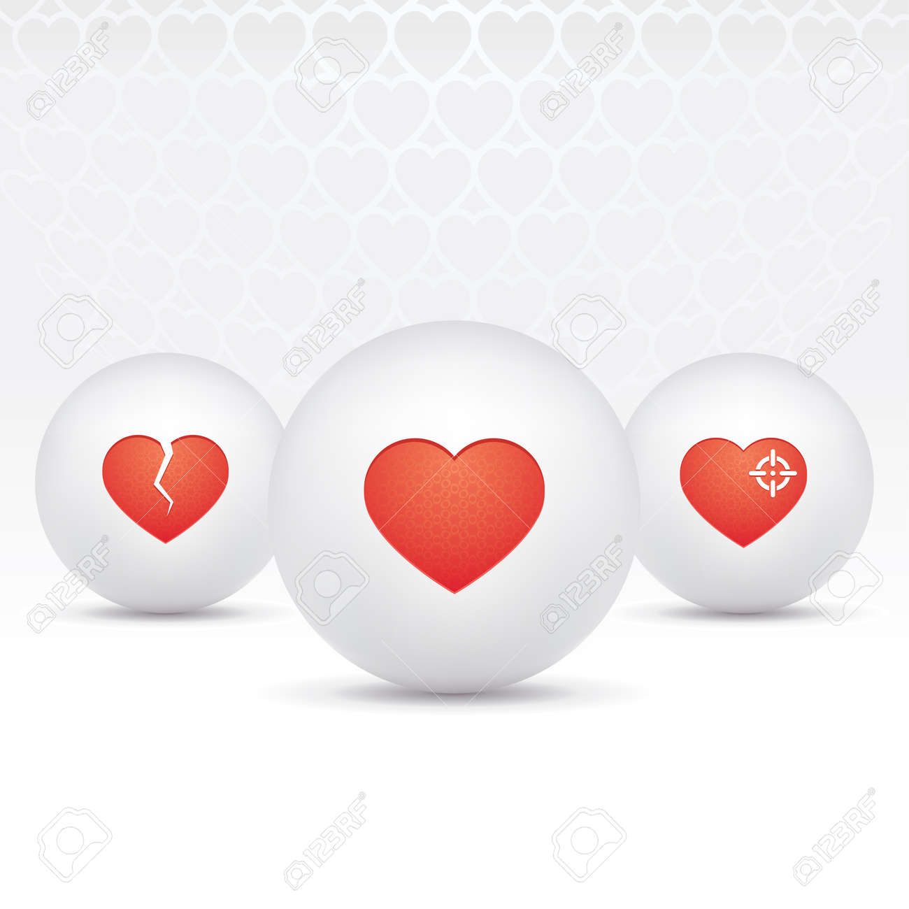icons of hearts Stock Vector - 15840259