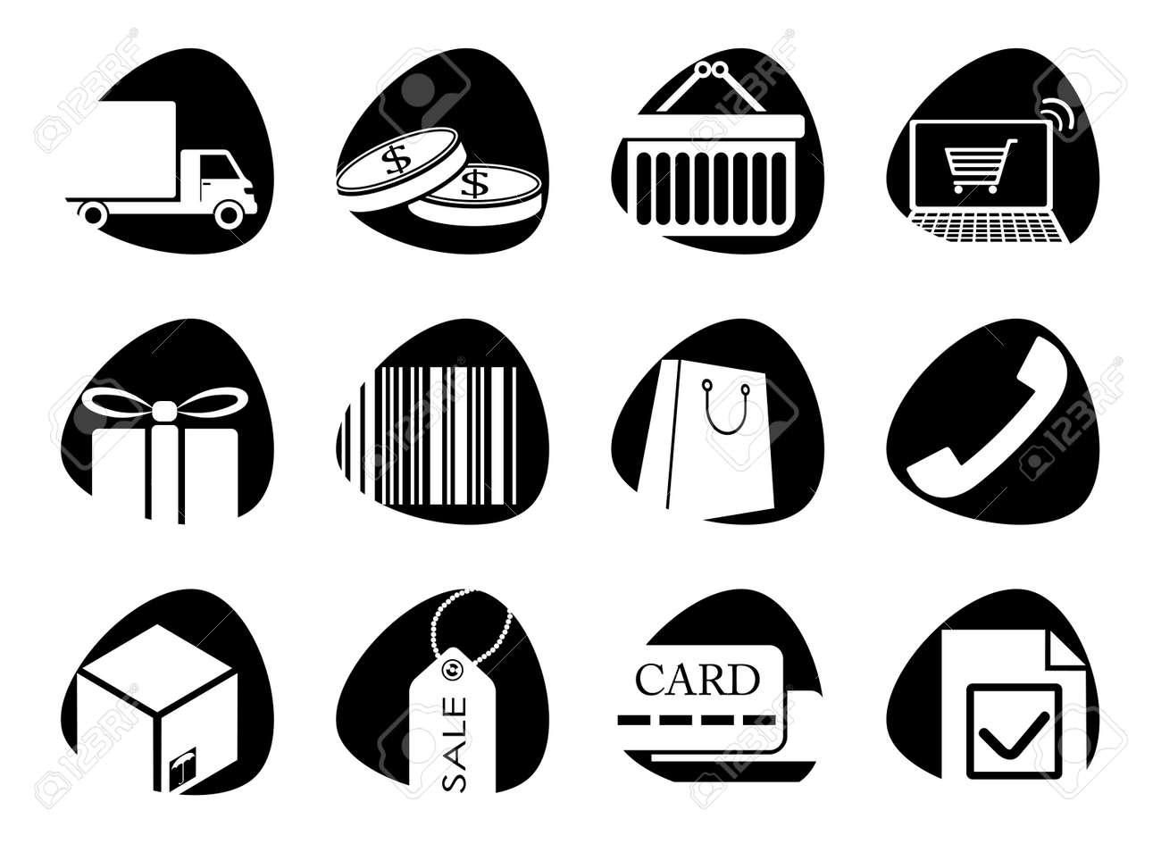 icons on the theme of sales Stock Vector - 16195738