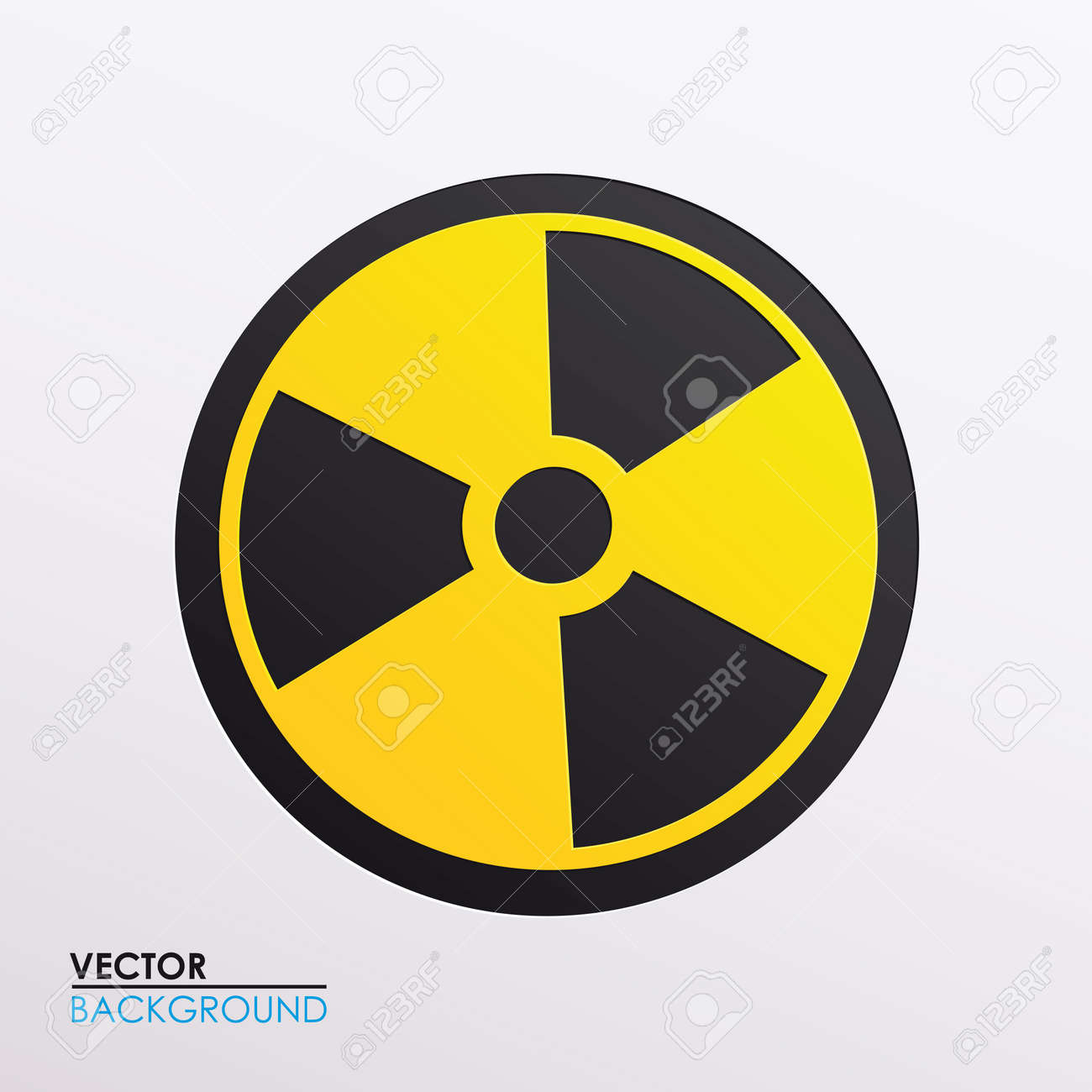 Vector illustration of radiation symbol Stock Vector - 17697274
