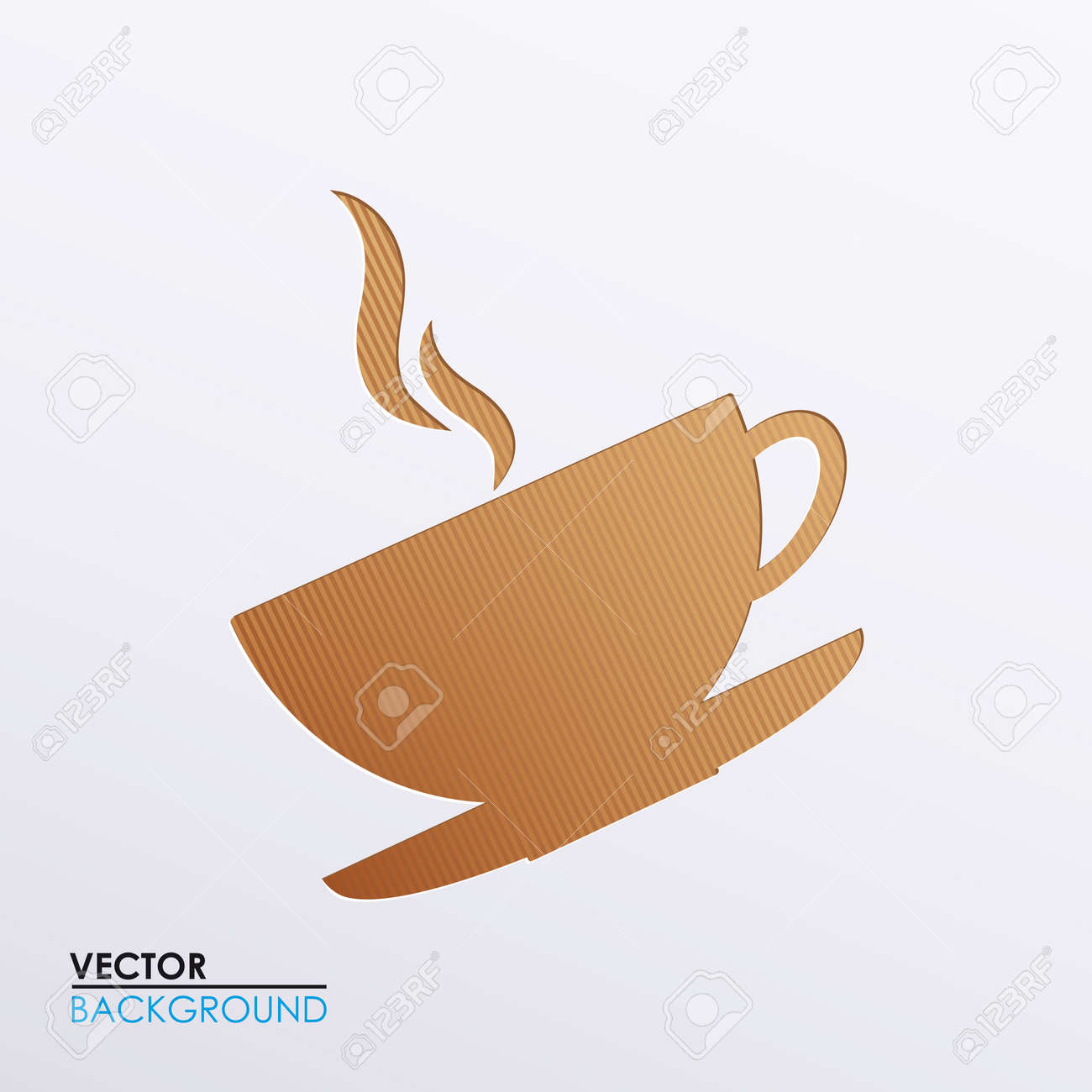 Vector illustration of icons on the subject of coffee Stock Vector - 17697298