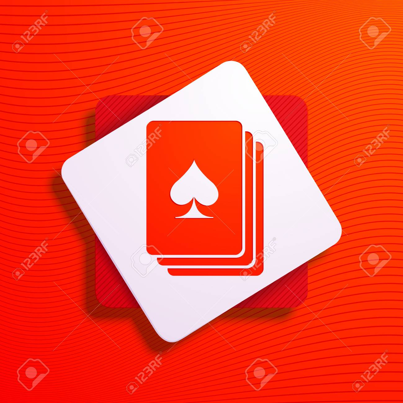Vector illustration of a stylized playing card Stock Vector - 19715957