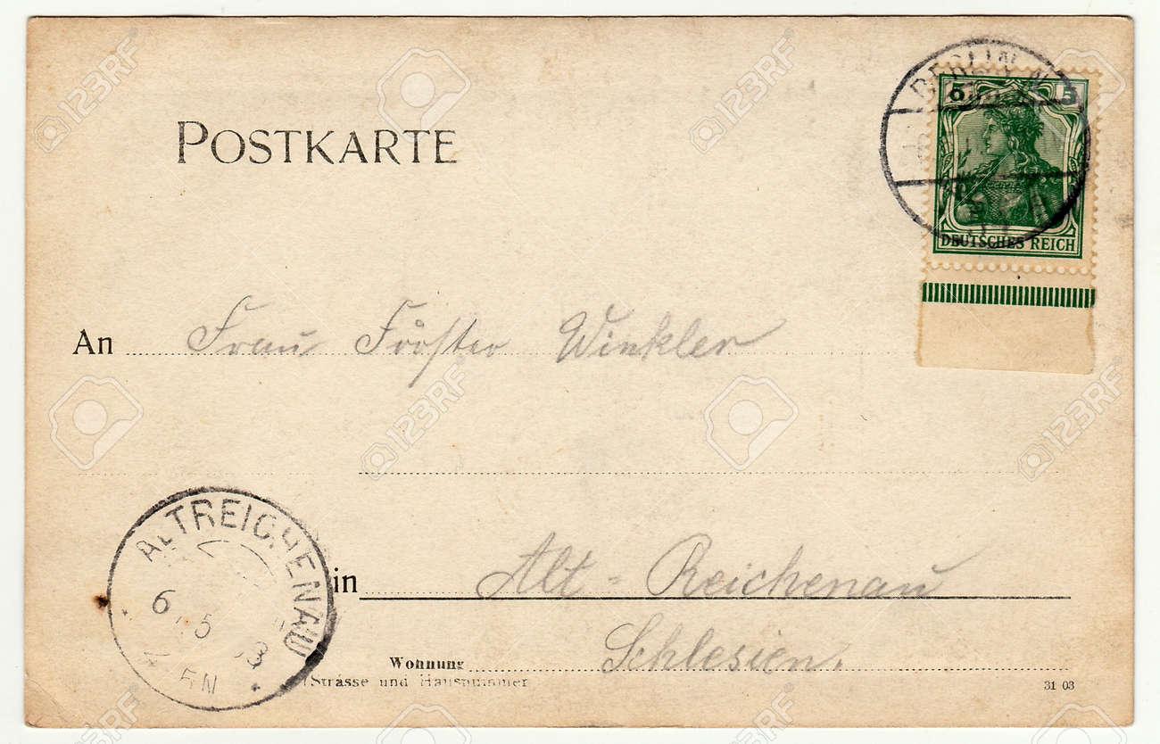 BERLIN, DEUTSCHLAND - CIRCA 1930: Zurück Von Einem Vintage-Foto ...