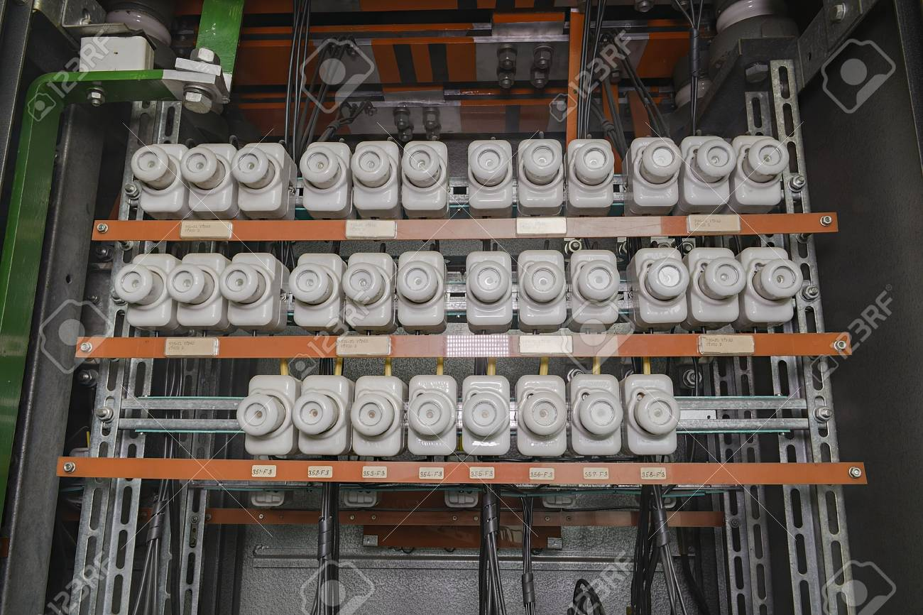 An old fuse box with cables. Old electrical panel, electrical.. Old Electrical Fuse Box on outdated fuse box, old time electrical fuse, 100 amp electrical box, old electrical breaker box, old breaker box fuses, old electrical circuit box, old electrical light box, old fuse panel, old electrical panel box, murray fuse box,