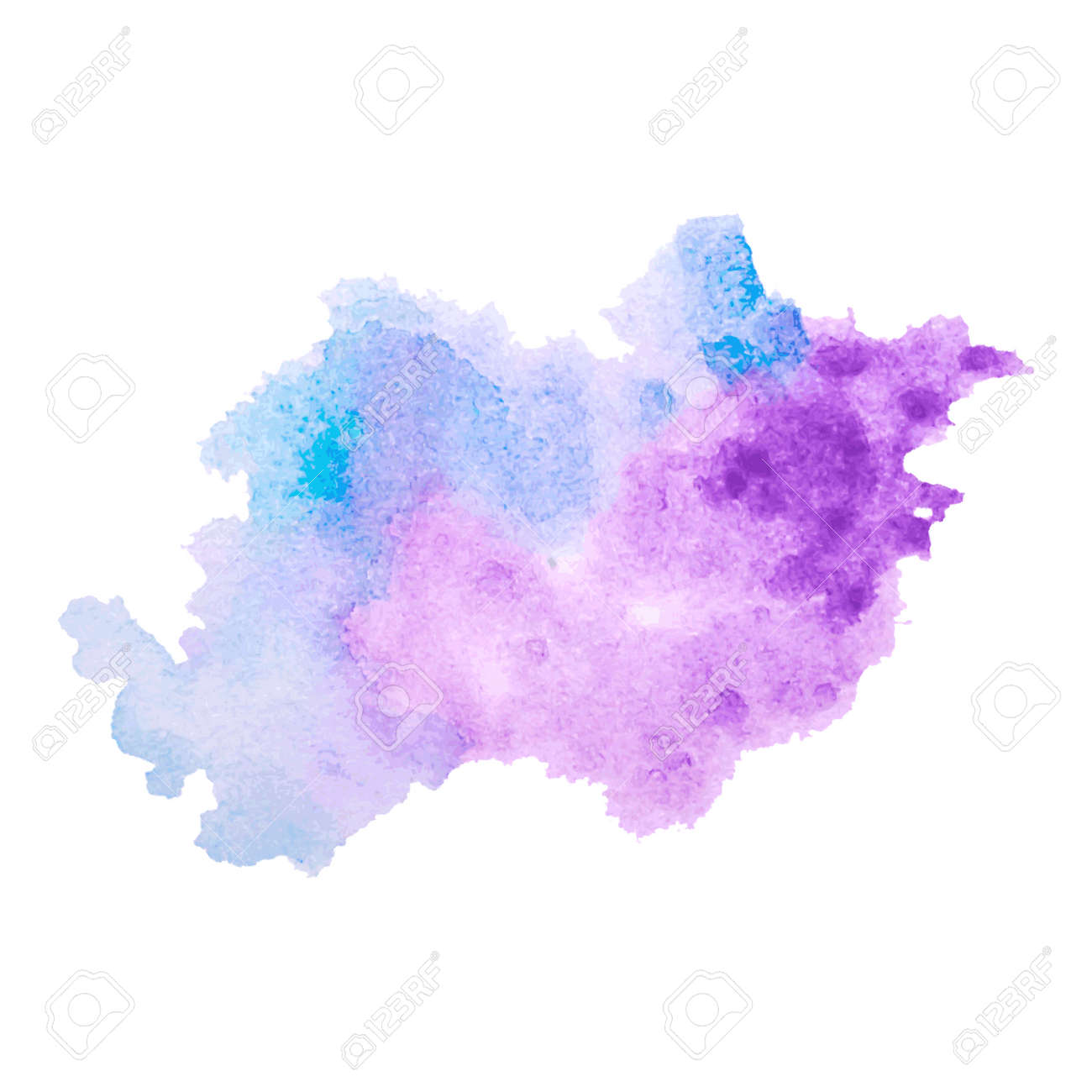 Vector vector multicolored watercolor splash texture blots background isolated grunge hand drawn blob spot and droplets