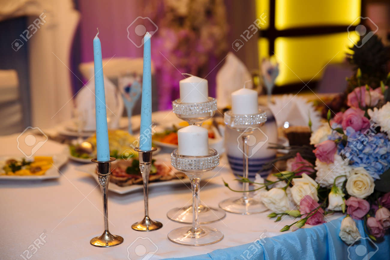 Table Decoration In Wedding Day Stock Photo Picture And Royalty