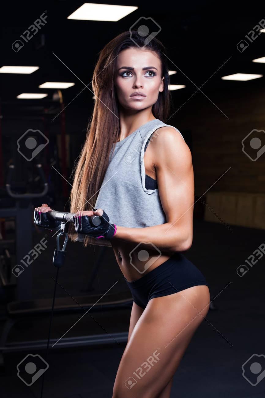 Cute girl bodybuilder