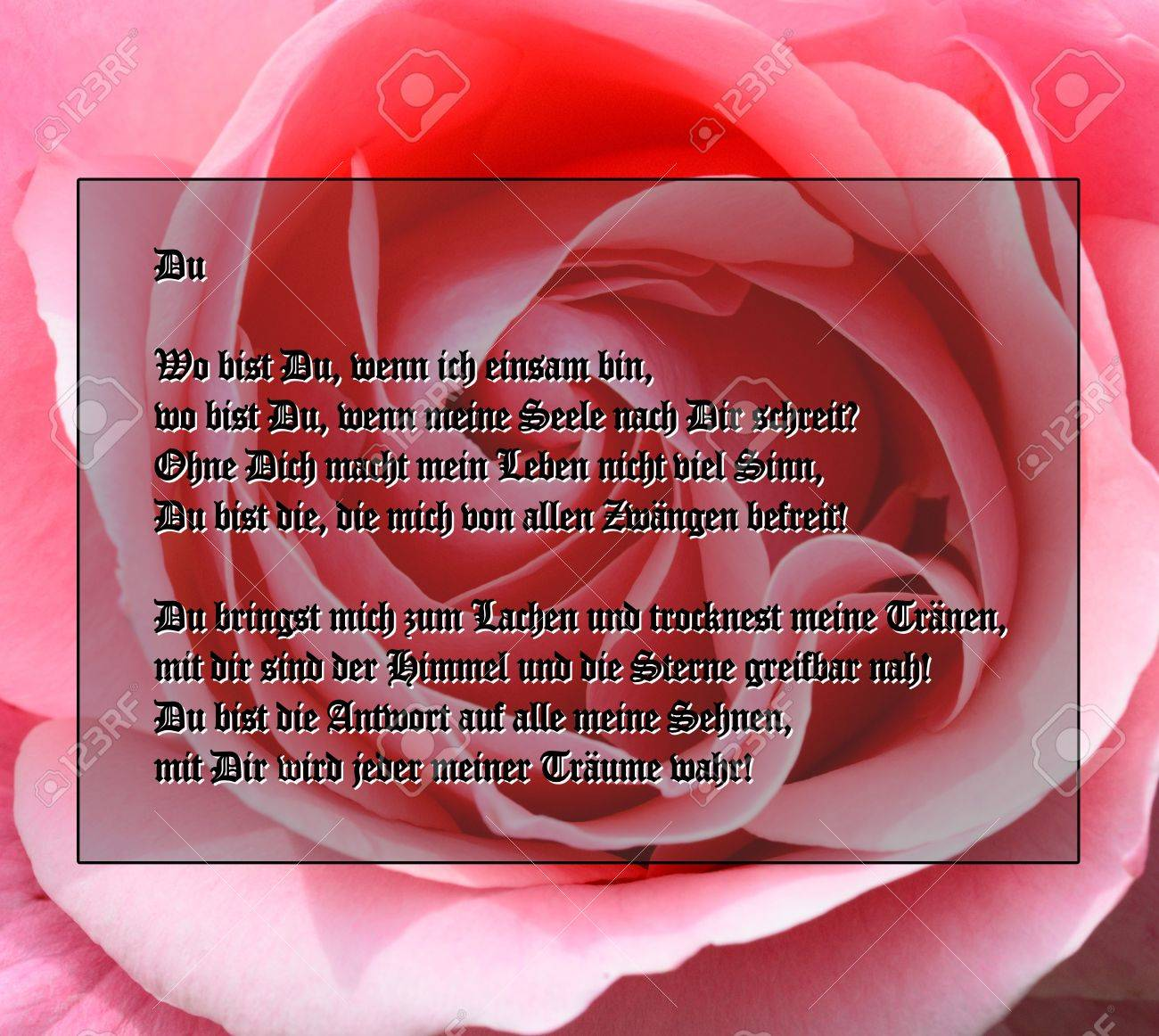 german poem for valentine s day stock photo picture and royalty