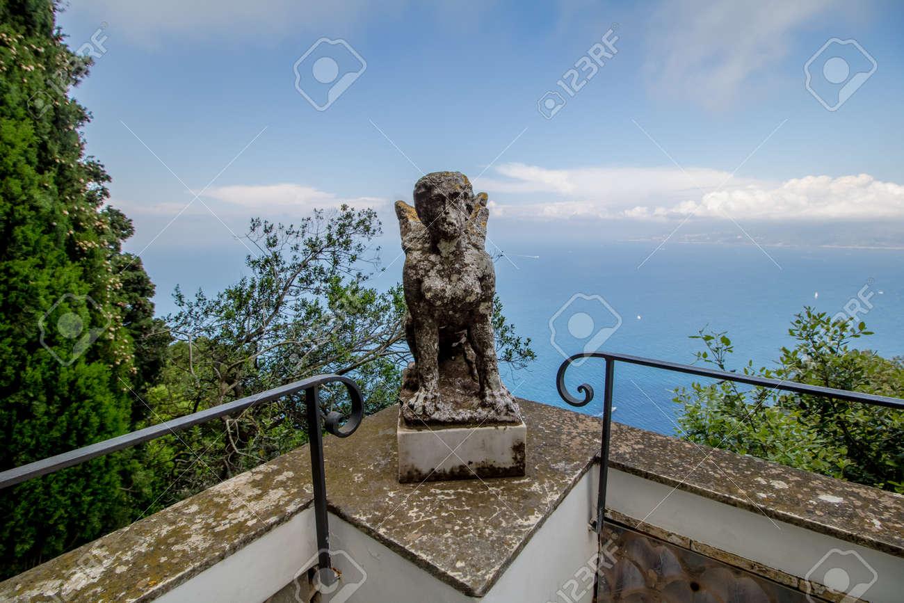 The Villa San Michele In Spring In Anacapri On The Island Of