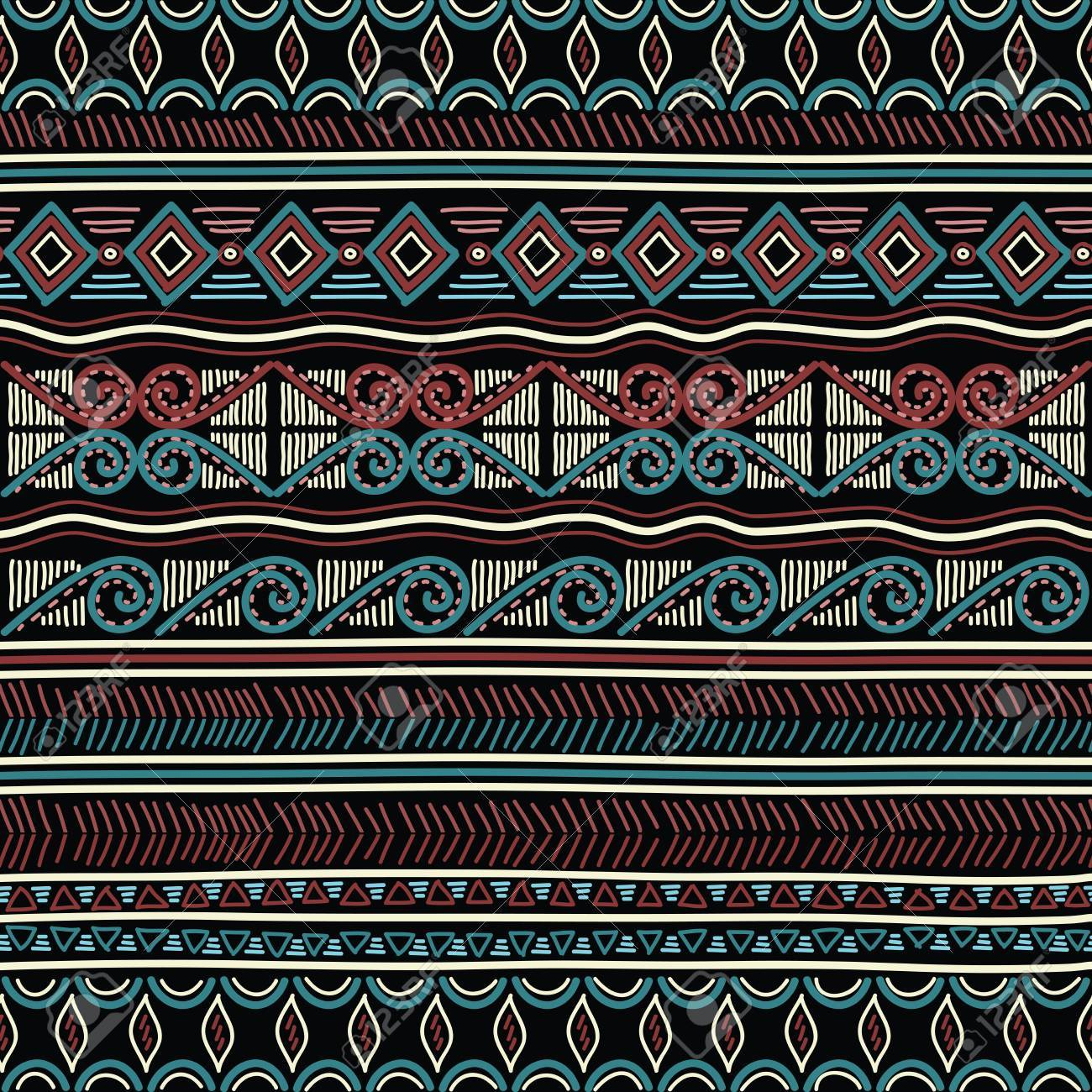 Geometric ethnic oriental seamless pattern. Hand doodled traditional design for carpet, wallpaper, textile and fabric. Embroidery stylized vector illustration. Print for clothing. - 82073094