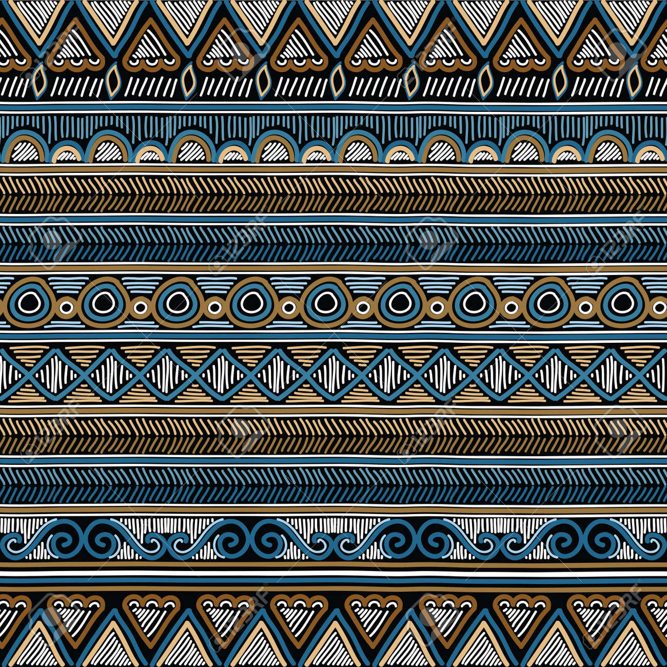 Geometric ethnic oriental seamless pattern. Hand doodled traditional design for carpet, wallpaper, textile and fabric. Embroidery stylized vector illustration. Print for clothing. - 82073397