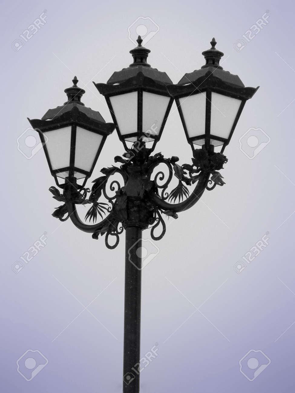 lantern (snowy weather) Stock Photo - 6128298
