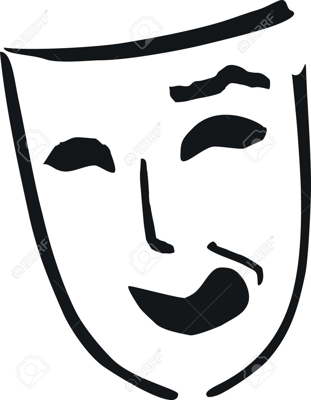 laughing theatre mask - 7823368