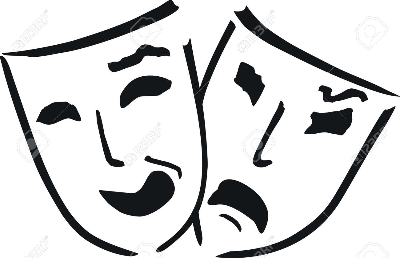 two theatre masks - 7823364
