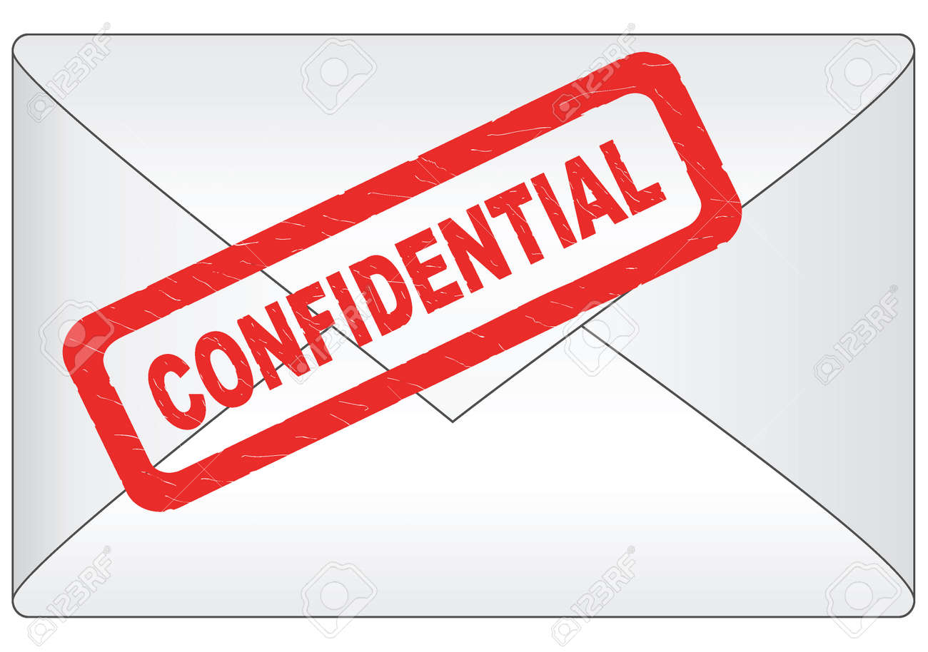 Letter With Confidential Stamp Royalty Free Cliparts, Vectors, And ...