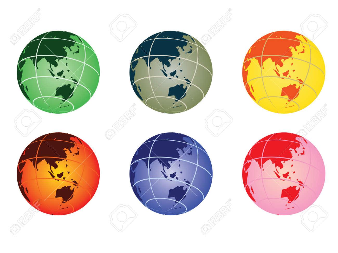 globe vector illustration - australia Stock Vector - 10875007