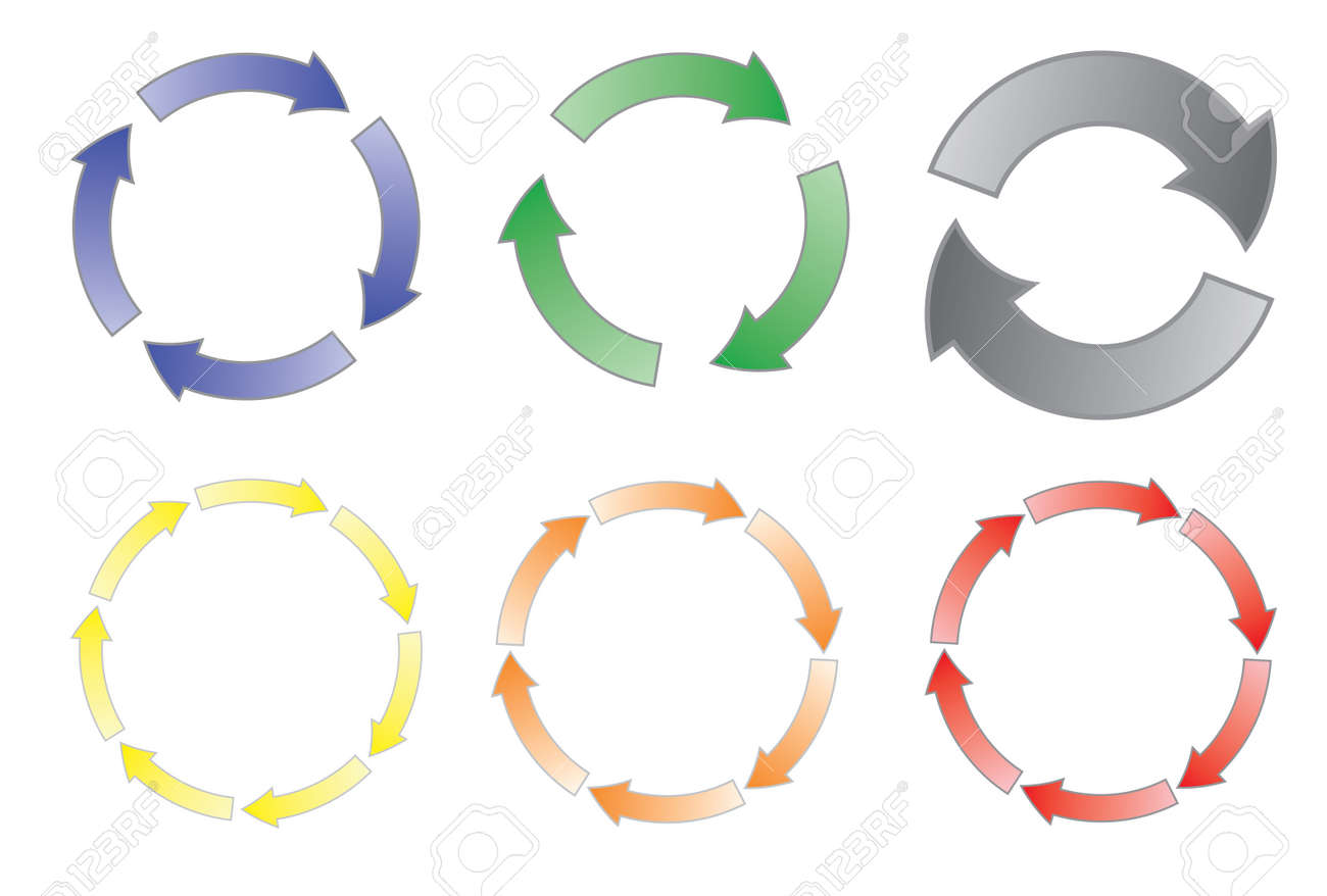 Process cycling arrow by arrow royalty free stock images image - Set Of Cycling Arrows Vector Illustration Stock Vector 12203231