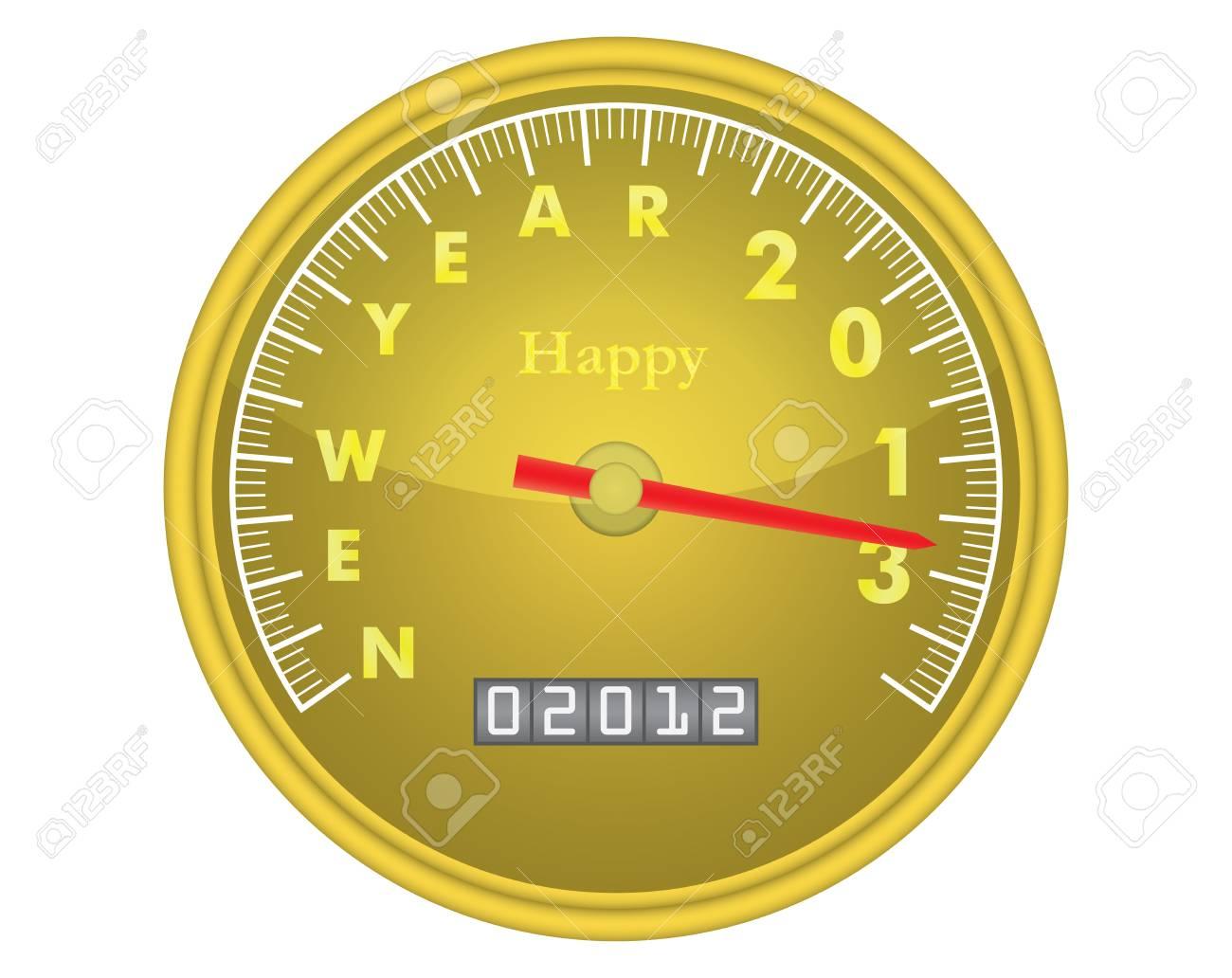 happy new year 2013 speedometer vector illustration Stock Vector - 12203287