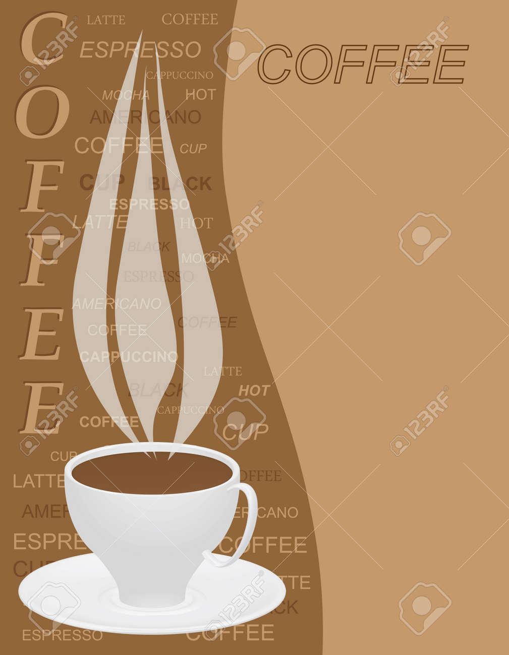 coffee menu template illustration royalty free cliparts vectors