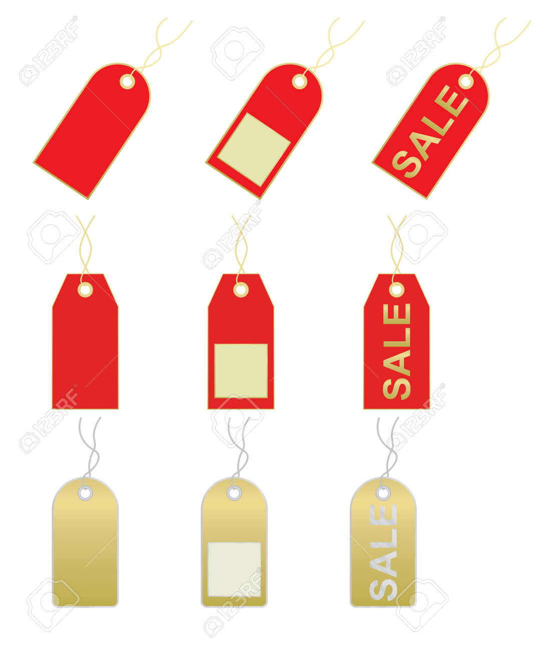 set of sale and price tags illustration Stock Vector - 12837655