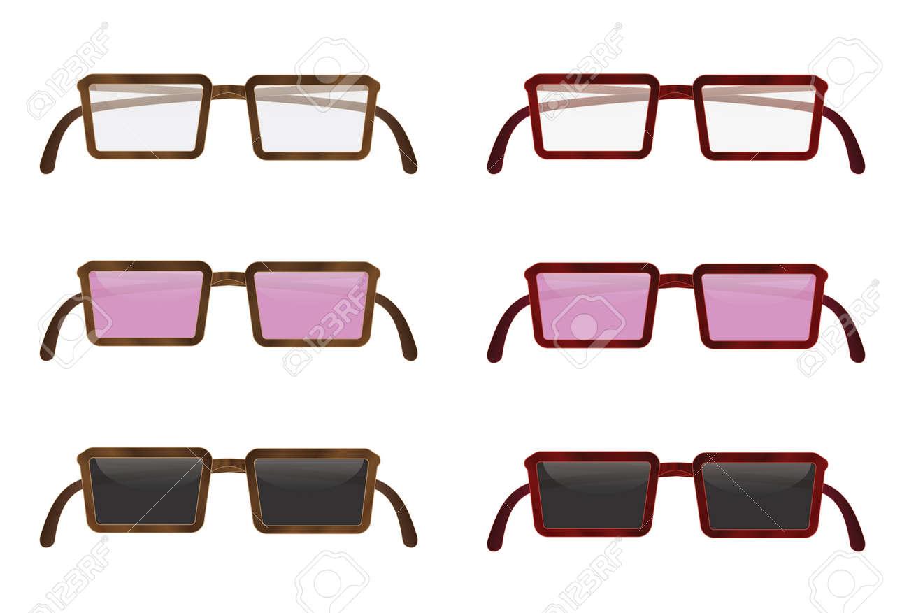 set of folded eyeglasses vector illustration Stock Vector - 13012386