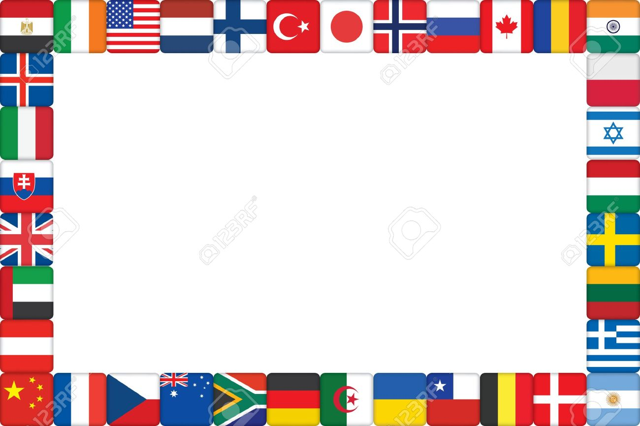 Frame Made Of World Flag Icons Vector Illustration Royalty Free ...
