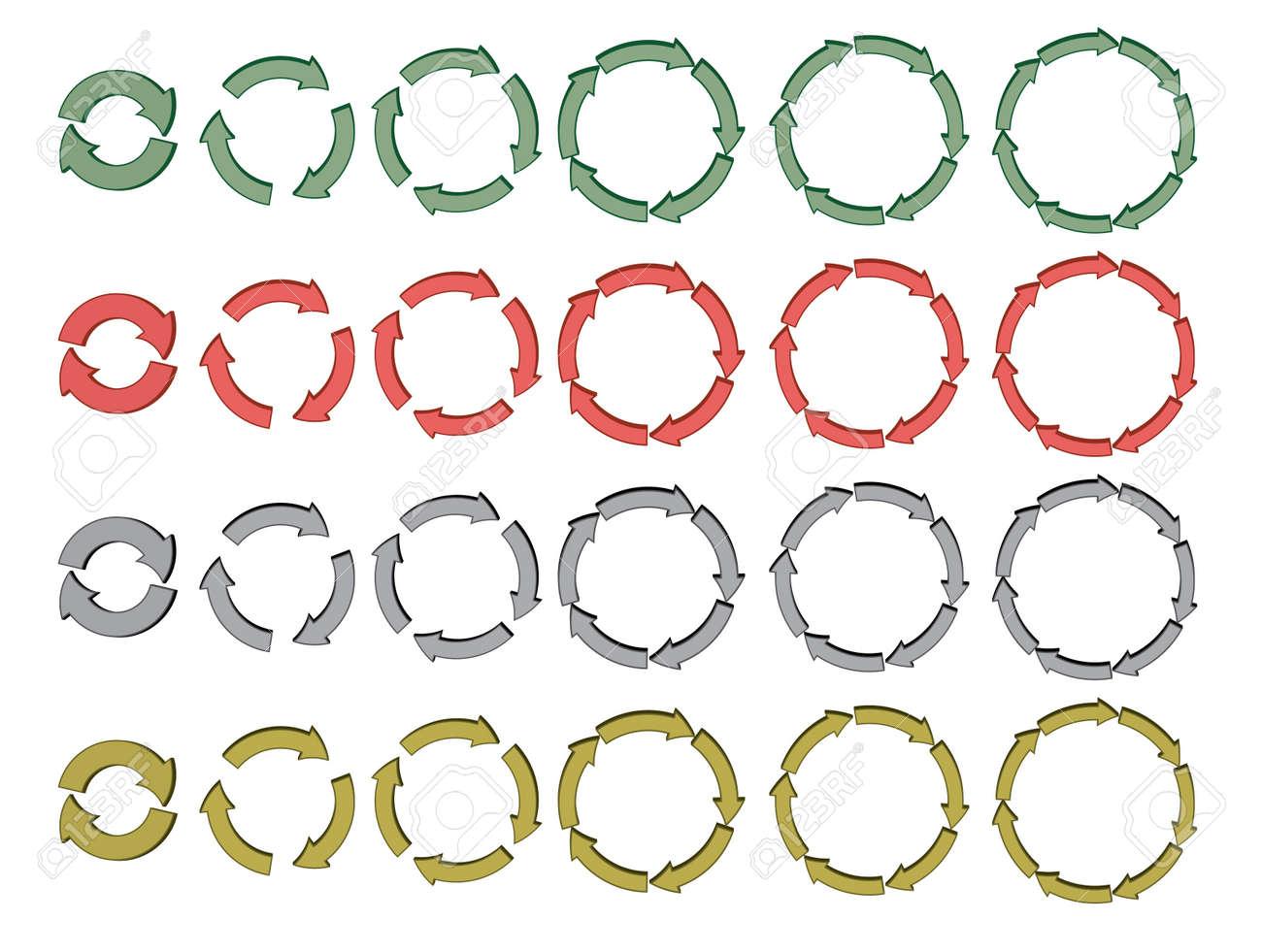 set of 3d cycling arrows Stock Vector - 16002015
