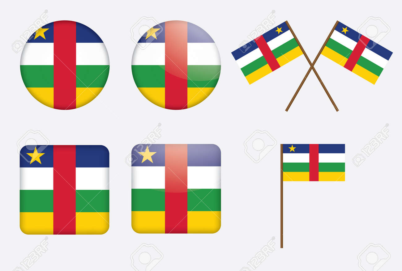 set of badges with flag of the Central African Republic Stock Vector - 16100848
