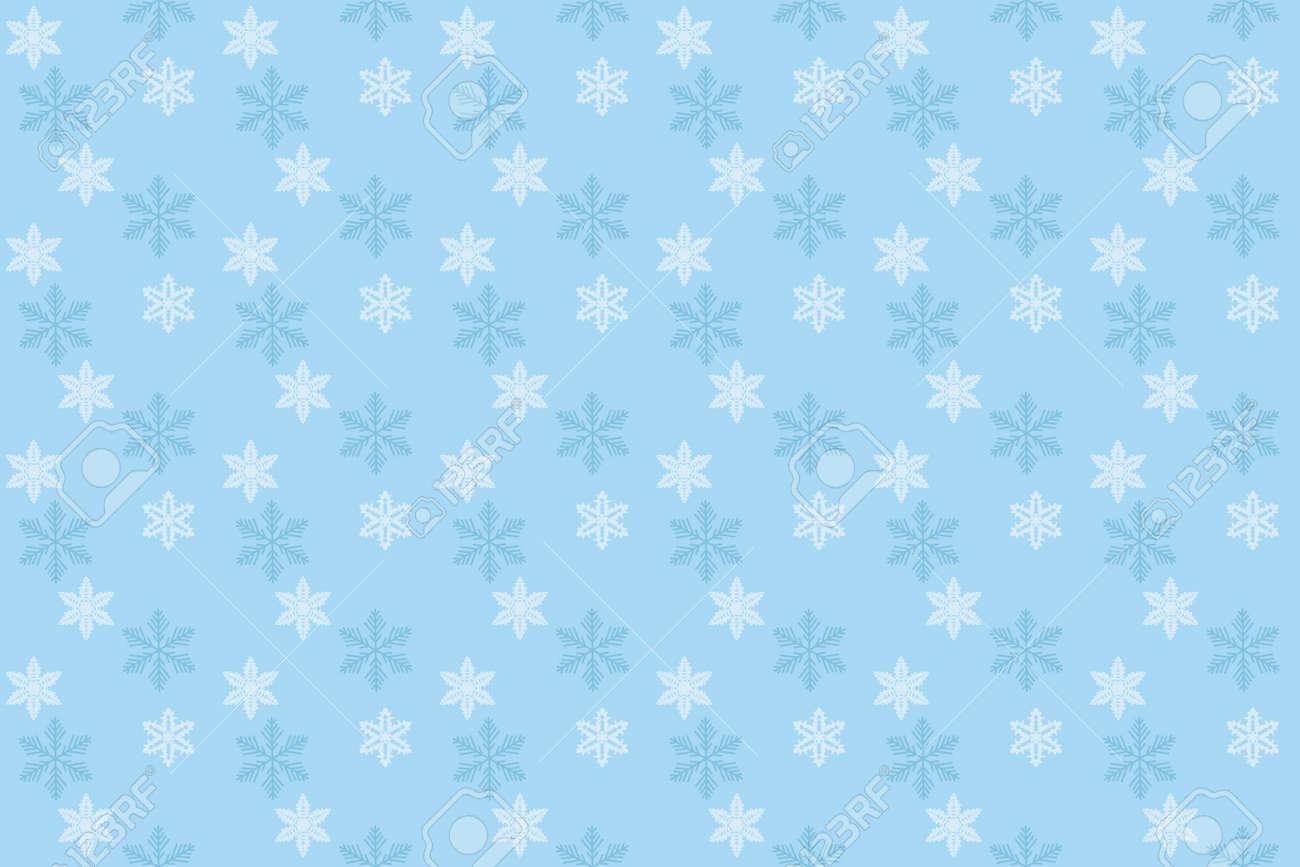 ブルーなシームレスな雪背景イラスト ロイヤリティフリークリップアート