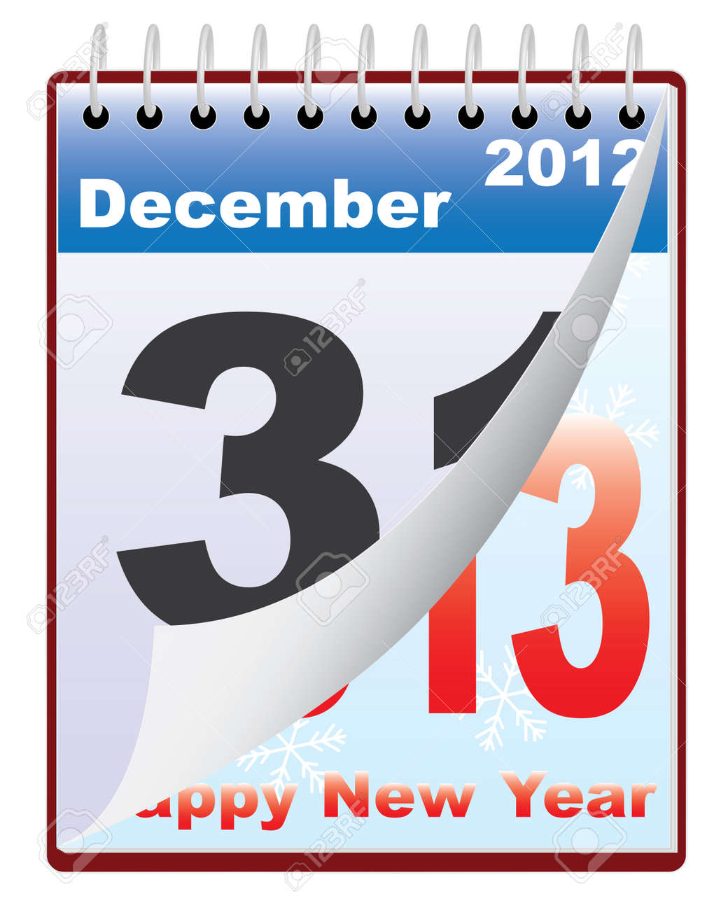 calendar with New Year 2013 date vector illustration Stock Vector - 16588823