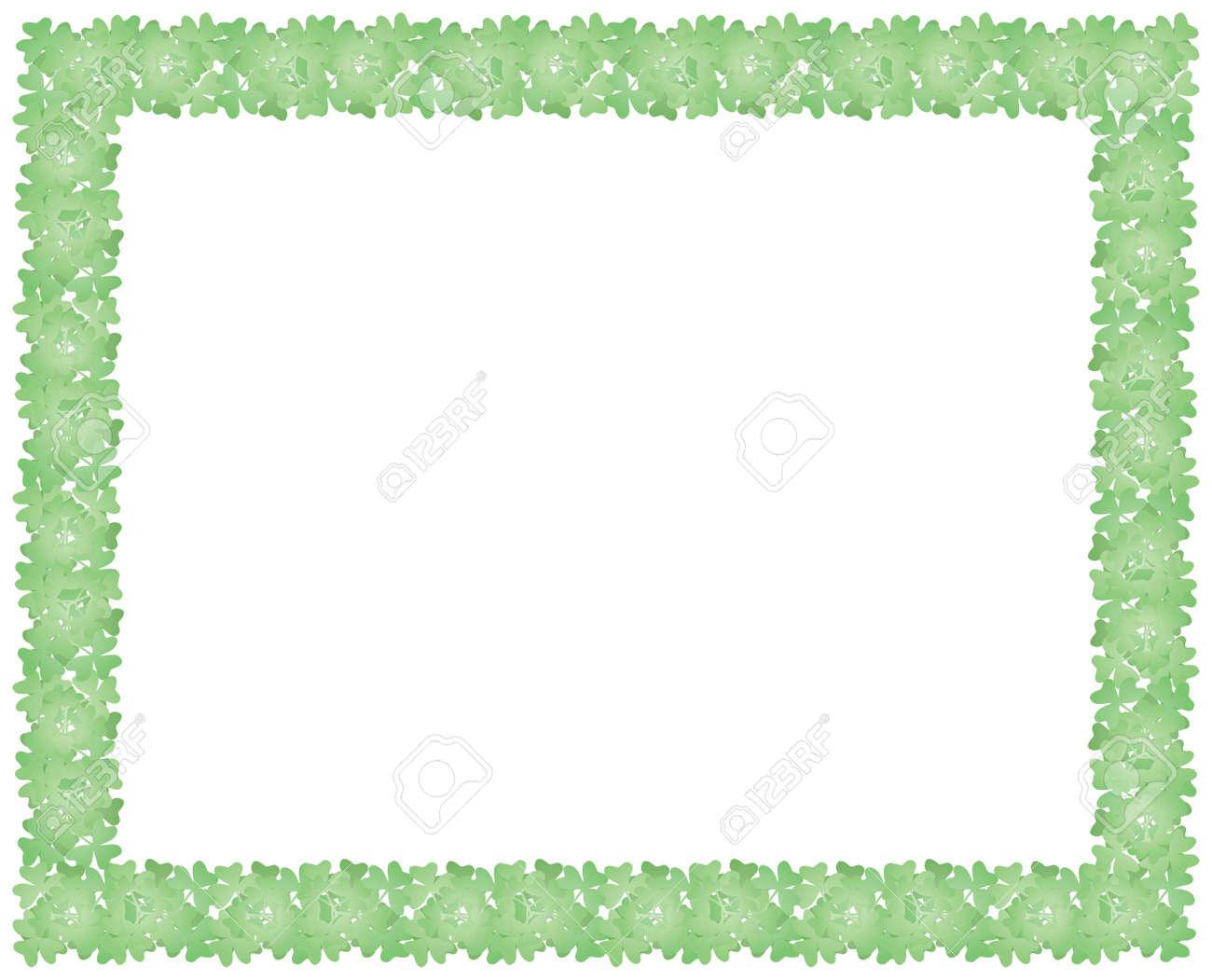 frame made of shamrock leaves for St Patricks Day holiday backround Stock Vector - 17619485