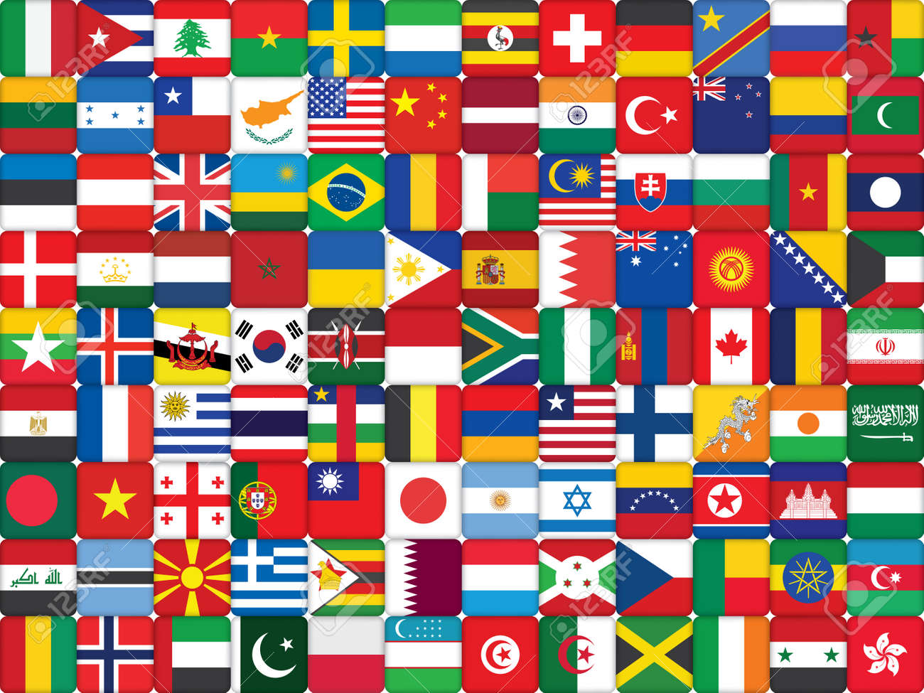 background made of world flag icons royalty free cliparts vectors